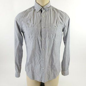 EXPRESS Men's Fitted Button Down Shirt S